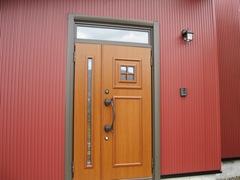 外壁サディング、玄関ドア工事